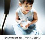offspring toddler adolescence... | Shutterstock . vector #744421840