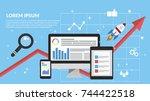digital marketing  analysis ... | Shutterstock .eps vector #744422518