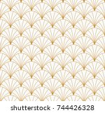 Vintage Art Deco Seamless Pattern. Geometric decorative texture.  | Shutterstock vector #744426328
