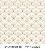 vintage art deco seamless... | Shutterstock .eps vector #744426328