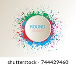 special round offer.vintage... | Shutterstock .eps vector #744429460