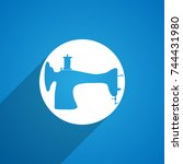 sewing machine icon | Shutterstock . vector #744431980
