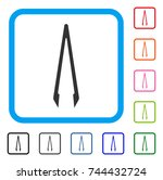 tweezers icon. flat gray... | Shutterstock .eps vector #744432724