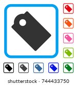 tag icon. flat gray pictogram...