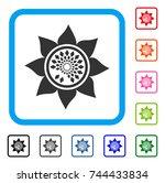 sunflower flower icon. flat...