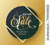 new year sale background vector ...   Shutterstock .eps vector #744434833