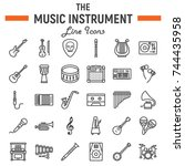 music instruments line icon set ...   Shutterstock .eps vector #744435958