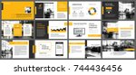 yellow and white element for... | Shutterstock .eps vector #744436456