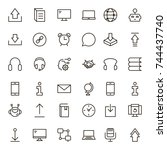 chat icon set. collection of... | Shutterstock .eps vector #744437740