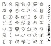 chat icon set. collection of...   Shutterstock .eps vector #744437803