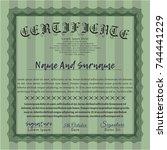 green certificate template or... | Shutterstock .eps vector #744441229