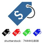 price tag icon. vector... | Shutterstock .eps vector #744441808