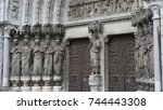 saint fin barre's cathedral in... | Shutterstock . vector #744443308