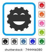 pleasure smiley gear icon. flat ... | Shutterstock .eps vector #744446080