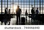 back lit business people... | Shutterstock . vector #744446440