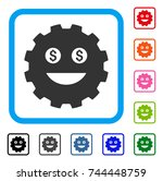 lucky smiley gear icon. flat...