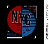 urban generation typography t... | Shutterstock .eps vector #744449440