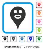 kiss smiley map marker icon....