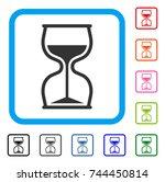 hourglass icon. flat gray...