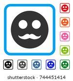 gentleman smiley icon. flat...   Shutterstock .eps vector #744451414
