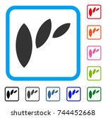flora leaf abstraction icon.... | Shutterstock .eps vector #744452668