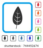 flora leaf icon. flat gray... | Shutterstock .eps vector #744452674