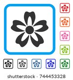 flower icon. flat gray...