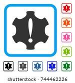 danger icon. flat gray...
