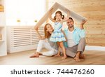 concept housing a young family. ... | Shutterstock . vector #744476260