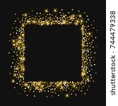 sparkling gold. square abstract ... | Shutterstock .eps vector #744479338