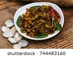 clam or shellfish roast curry... | Shutterstock . vector #744483160
