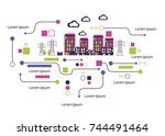 infographic template. the power ...   Shutterstock .eps vector #744491464