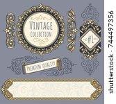 ornate decorative emblem and...   Shutterstock .eps vector #744497356
