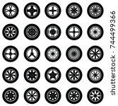 car wheel icon set   Shutterstock .eps vector #744499366