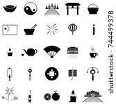 chinese icon set | Shutterstock .eps vector #744499378