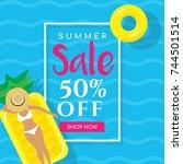 summer sale vector illustration ...   Shutterstock .eps vector #744501514