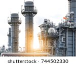 close up industrial view at oil ... | Shutterstock . vector #744502330