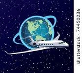 eps10 around the world | Shutterstock .eps vector #74450236