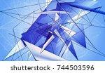 bright background blue...   Shutterstock . vector #744503596