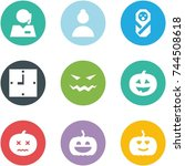 origami corner style icon set   ... | Shutterstock .eps vector #744508618