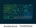 geometry colorful vector... | Shutterstock .eps vector #744509344