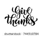 vector illustration of give... | Shutterstock .eps vector #744510784