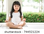 asian children cute or kid girl ... | Shutterstock . vector #744521224