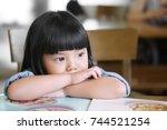 asian children cute or kid girl ...   Shutterstock . vector #744521254