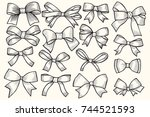 bow  ribbon illustration ... | Shutterstock .eps vector #744521593
