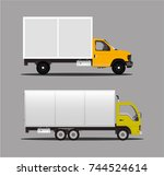 trucks for transportation. a... | Shutterstock .eps vector #744524614