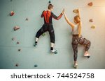 fitness  extreme sport ... | Shutterstock . vector #744524758