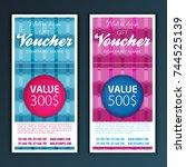 gift voucher template | Shutterstock .eps vector #744525139