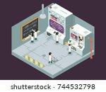 scientific laboratory... | Shutterstock .eps vector #744532798