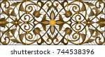 illustration in stained glass... | Shutterstock .eps vector #744538396